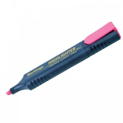 Текстовыделитель Berlingo розовый, 1-5мм