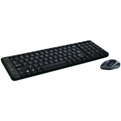 Комплект беспроводной клавиатура + мышь Logitech Combo MK220, черный