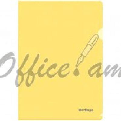 Папка-уголок А4 180мкм, прозрачная желтая