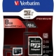 Micro SDHC, 8 GB, class 10 with adapter