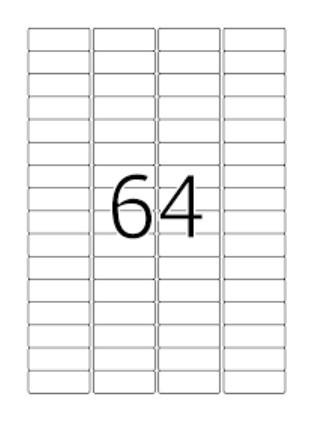 Ինքնակպչուն թուղթ A4, 64 բաժանումով,48,5*16,9մմ