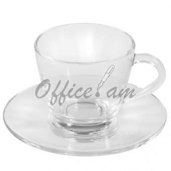 Սուրճի բաժակներ թափանցիկ,6 հատ