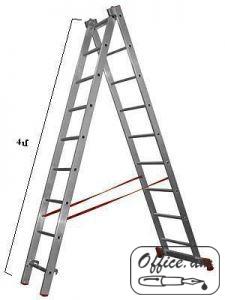 Սանդուղք ալյումինե, ամուր, բացվող, բարձրությունը 8 մ