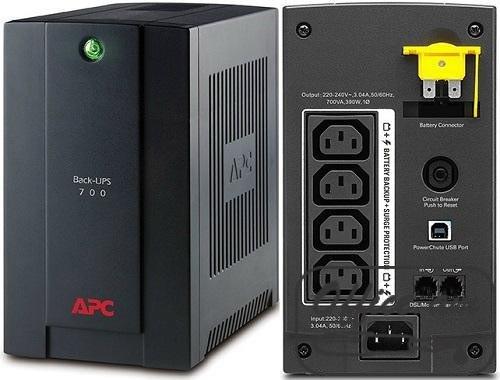 UPS APC BX700UI, Back-UPS, 700VA, 230V, AVR, IEC Sockets