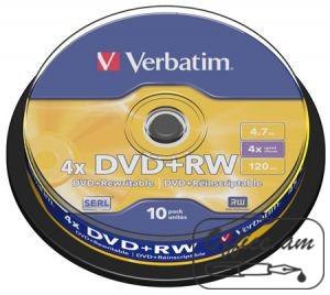 DVD+RW, 4.7GB, 4x, 10 հատ., շպինդել