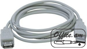 USB cable male-female, 1.5մ