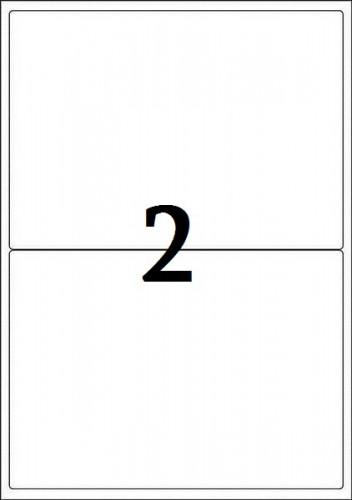 Ինքնակպչուն թուղթ A4, 2 բաժանումով, 210*148,5մմ