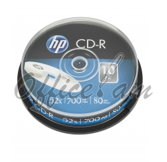 HP CD-R 700MB, 52x, 10հատ